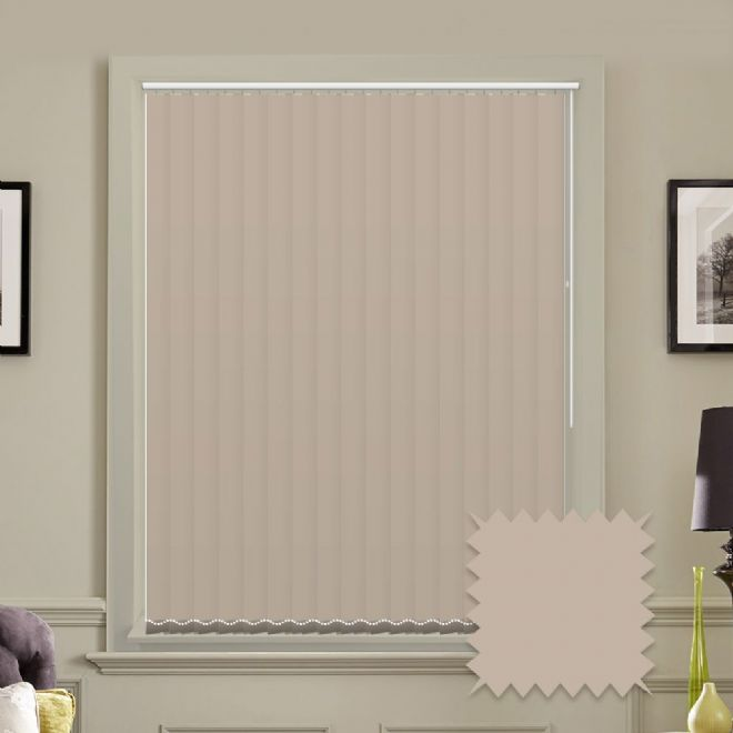 Unicolour Taupe 5 inch Vertical Blinds - made to measure - Just Blinds